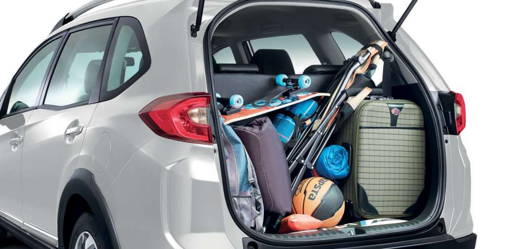 Biggest trunk space - 223 litres with all seats up, 539 litres when 3rd row seats are folded